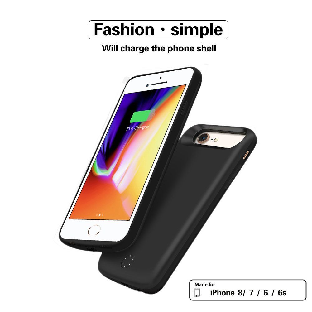 premium selection ba296 66434 iPhone 8 / 7 / 6s / 6 Battery Case ZTESY 5000mAh Capacity Ultra Slim ...