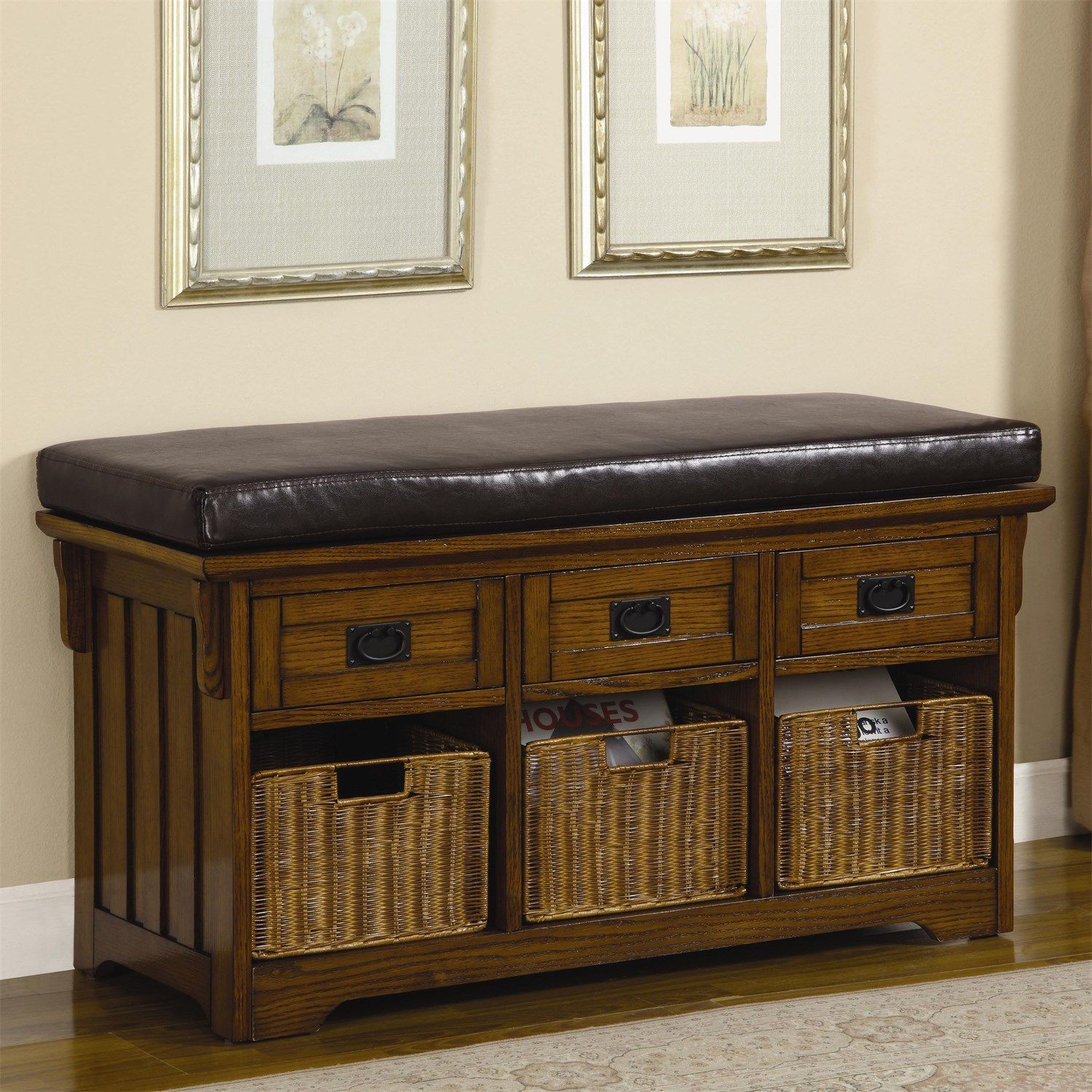 Coaster Furniture 501061 Small Storage Bench With Upholstered Seat Wooden Storage Bench Bench With Storage Small Storage Bench