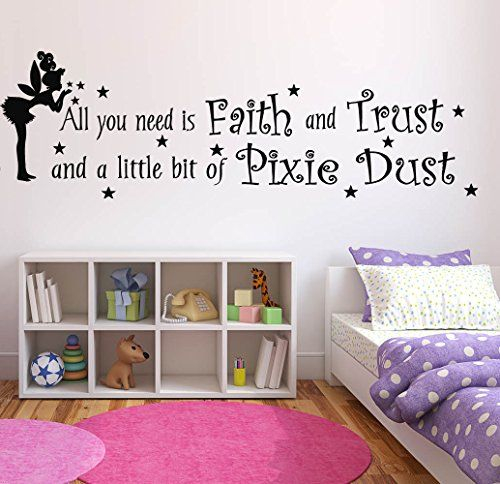 Best Wall Decal Sticker Bedroom Tinkerbell Quote All You Need 640 x 480