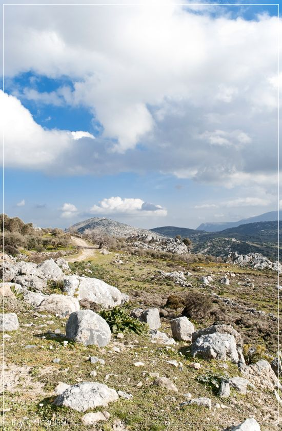 Cretan landscape photography and an old abandoned village.