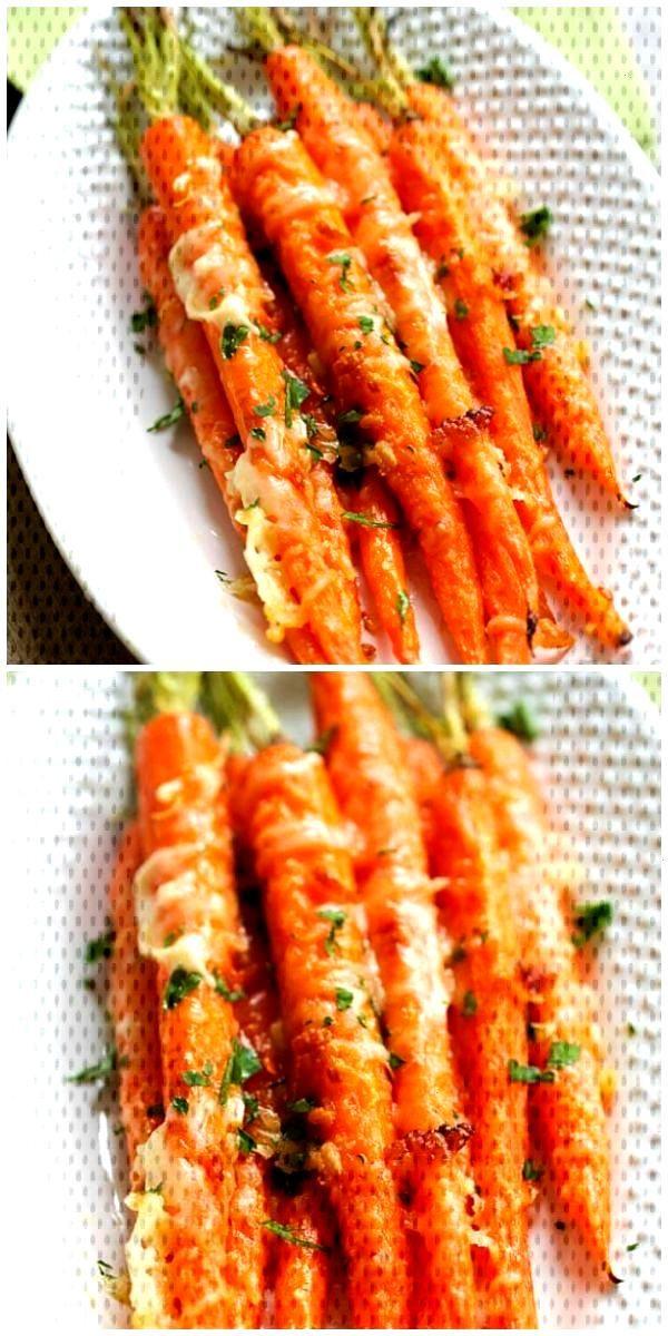 Garlic Parmesan Roasted Carrots#carrots