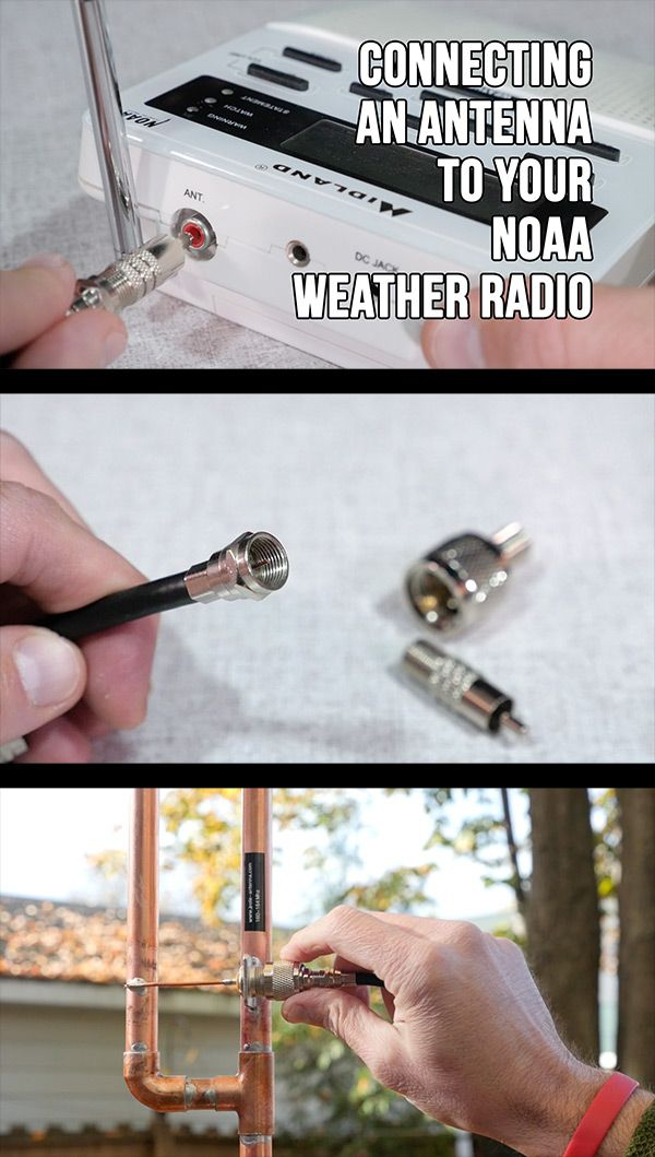Connecting An Antenna To Your Noaa Weather Band Radio Kb9vbr Antennas Noaa Weather Radio Radio Weather Radio