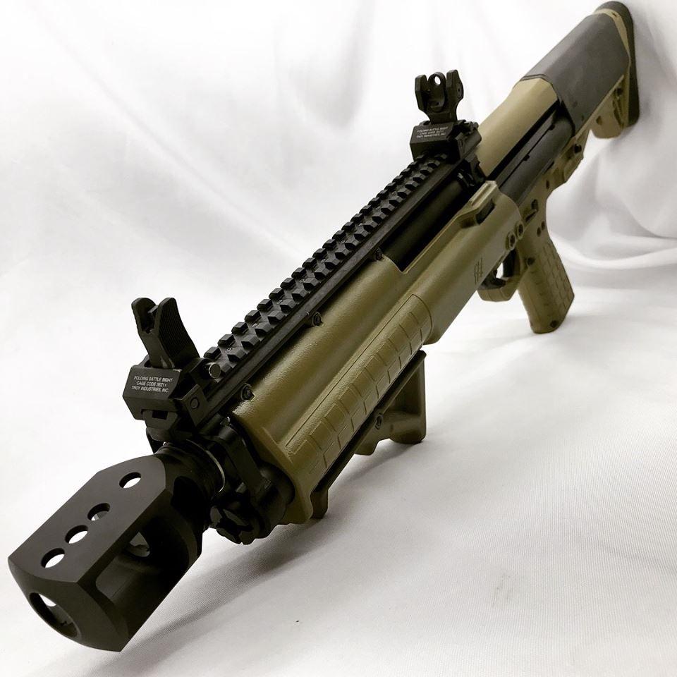 Kel-Tec KSG 12ga Shotgun #shotgun #guns #muzzlebrake #firearms