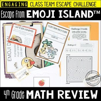 4th Grade Math Test Prep Game | Easy-Prep Escape Room ...
