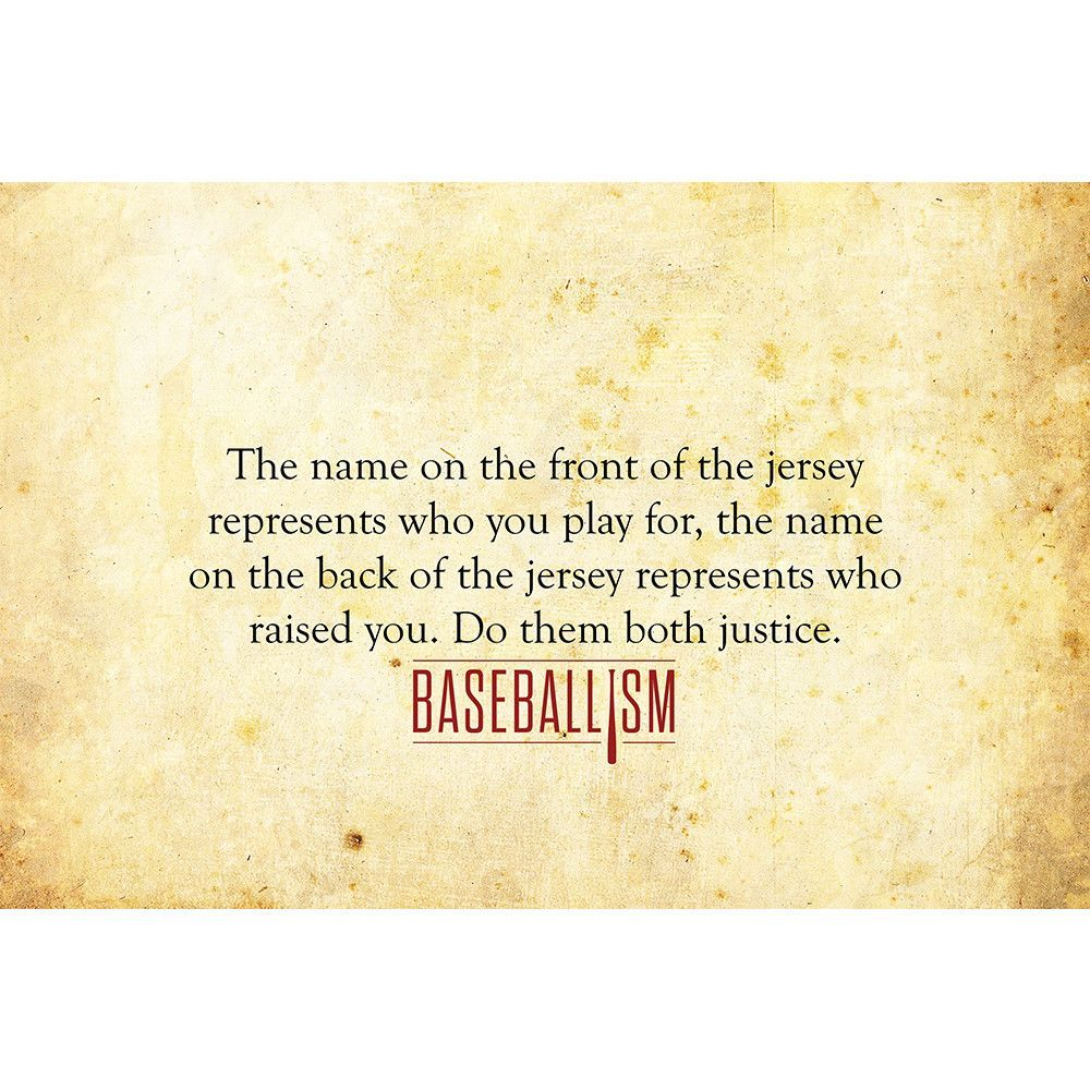 Baseball Life Quotes Baseball Quote From Baseballism.this Would Be More Meaningful