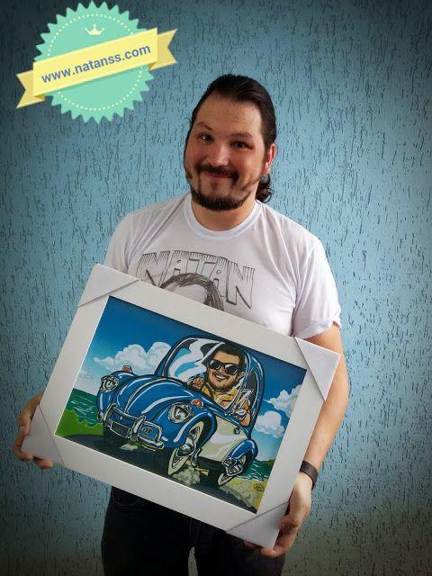 CARICATURAS  CURITIBA, Natan SS - Caricaturas ao vivo: Caricatura para presente