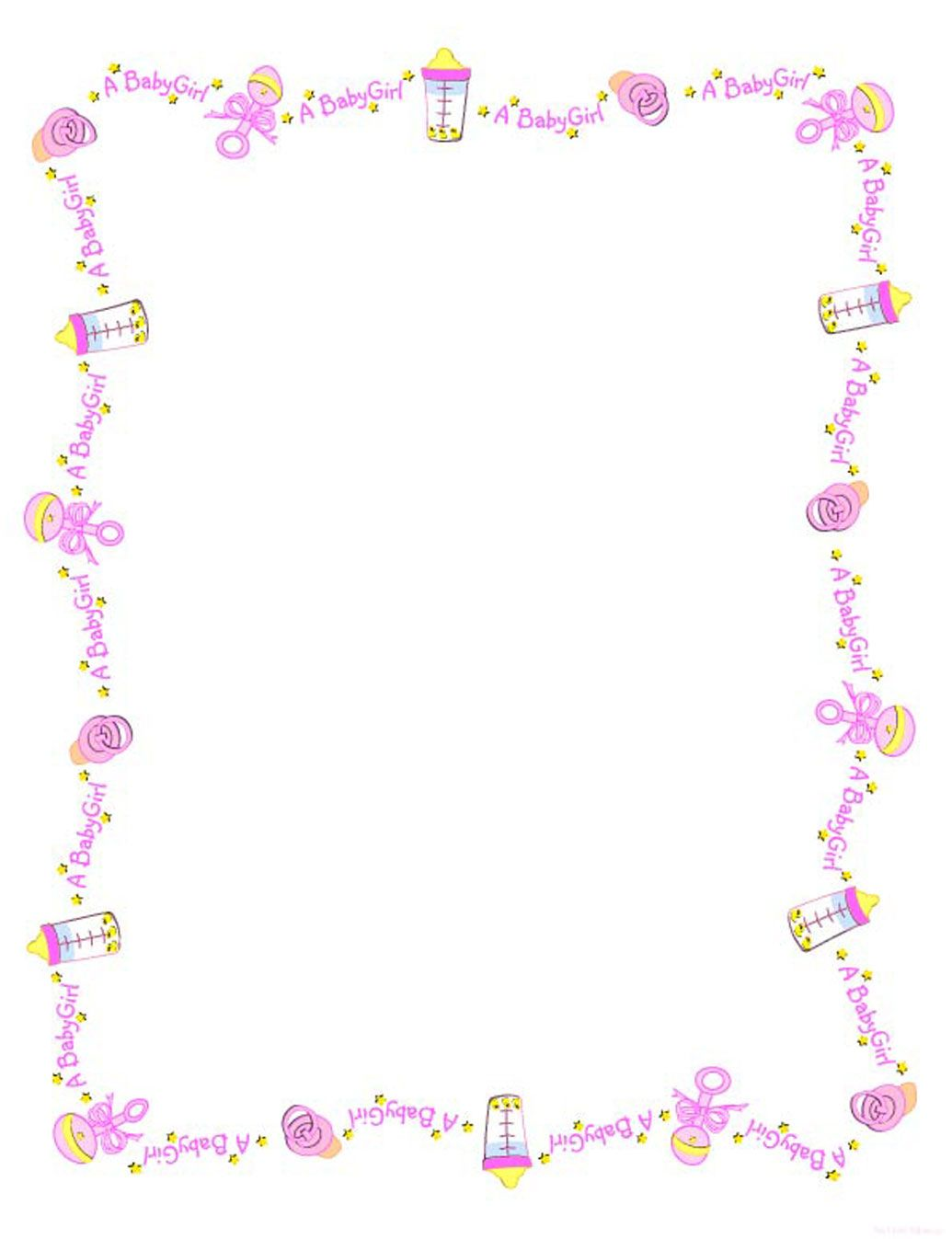 Babyshower Borders : babyshower, borders, Borders, Clipart, Border,, Shower, Clipart,, Welcome, Girls