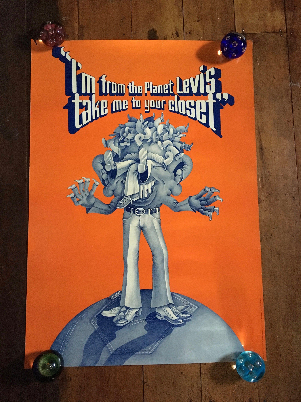 Levi Jeans 1967 Original Rare Vintage Advertising Poster ...