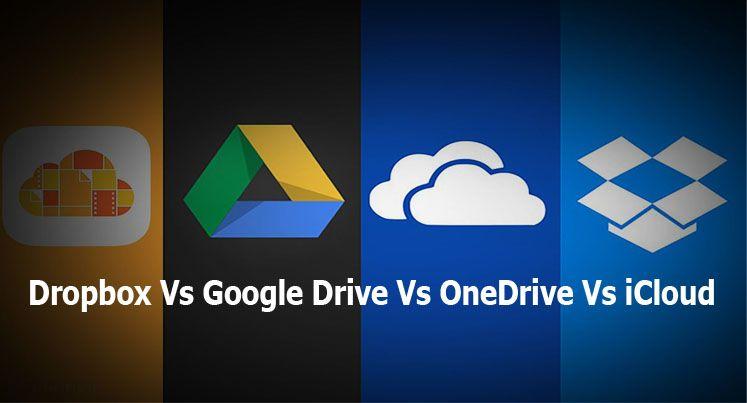 Dropbox Vs Google Drive Vs OneDrive Vs iCloud Online