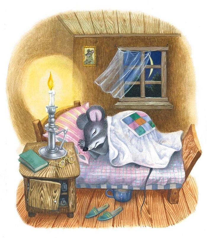 Картинка с мышами спокойной ночи, французских открыток как