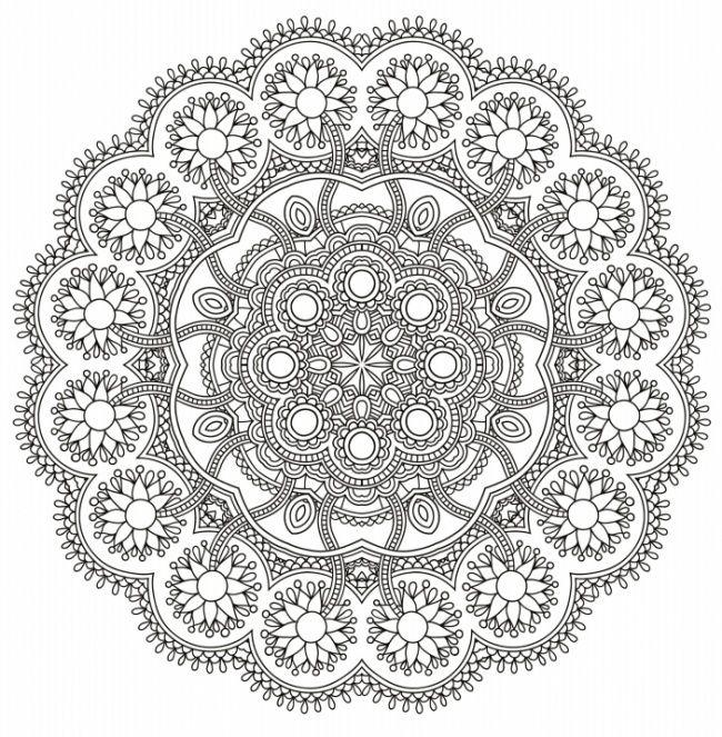 10 Dibujos para colorear para adultos  mandalas  Pinterest