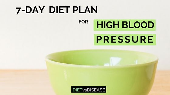 7-Day Diet Plan For High Blood Pressure (Dietitian-Made)