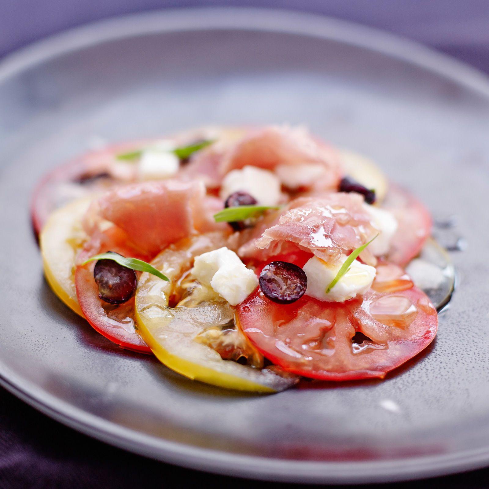 Carpaccio de tomates, facile et pas cher