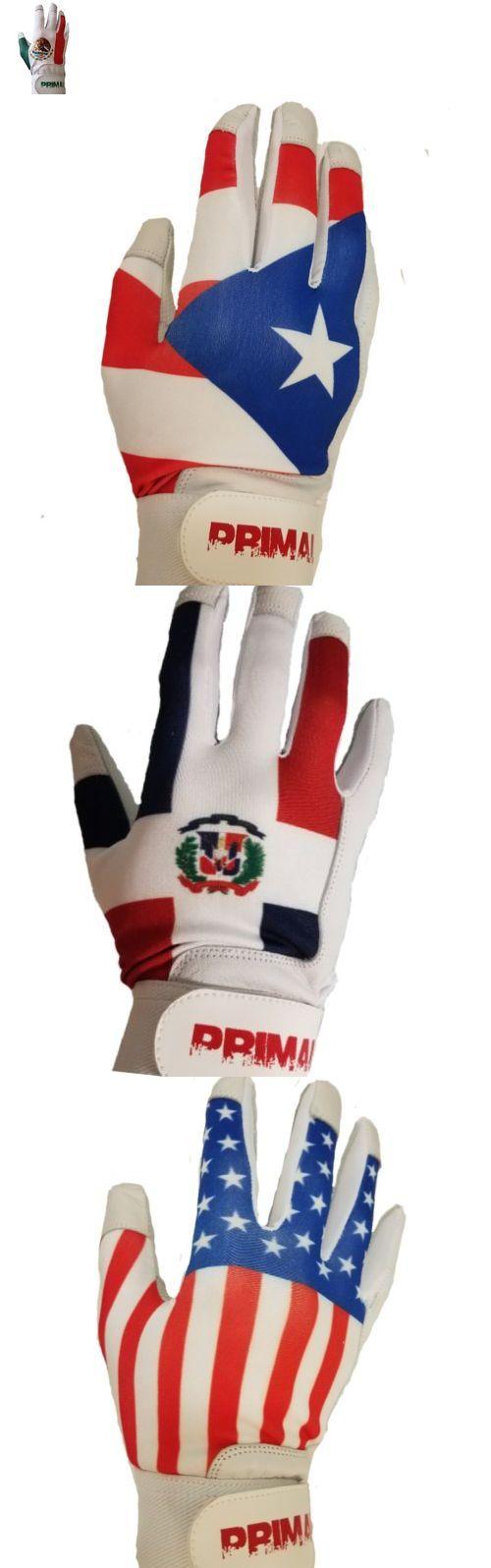 MEXICO Flag Adult Men/'s Baseball Batting Gloves Size Medium
