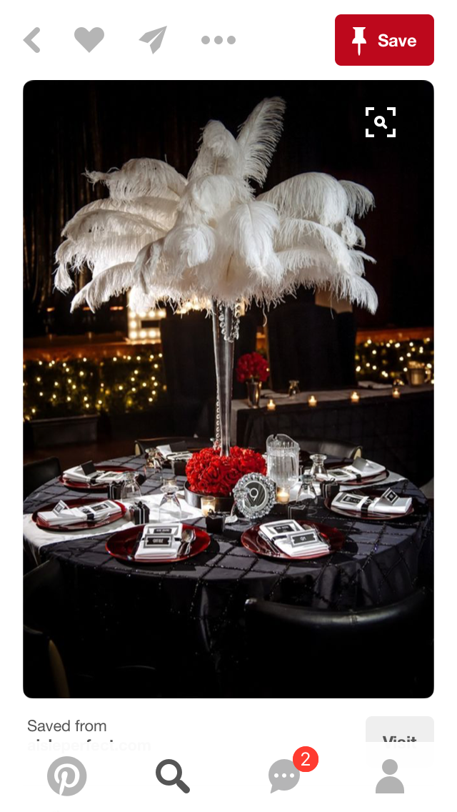 Red Flowers Base Idea Hollywood Party Theme Old Hollywood Party