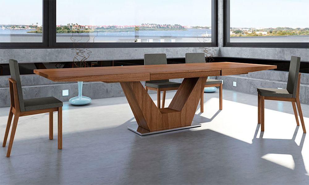 Mesa de comedor extensible moderna verona mesas mesas for Mesas de comedor de madera de diseno