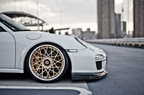 Something About White Cars And Bronze Copper Gold Rims Just