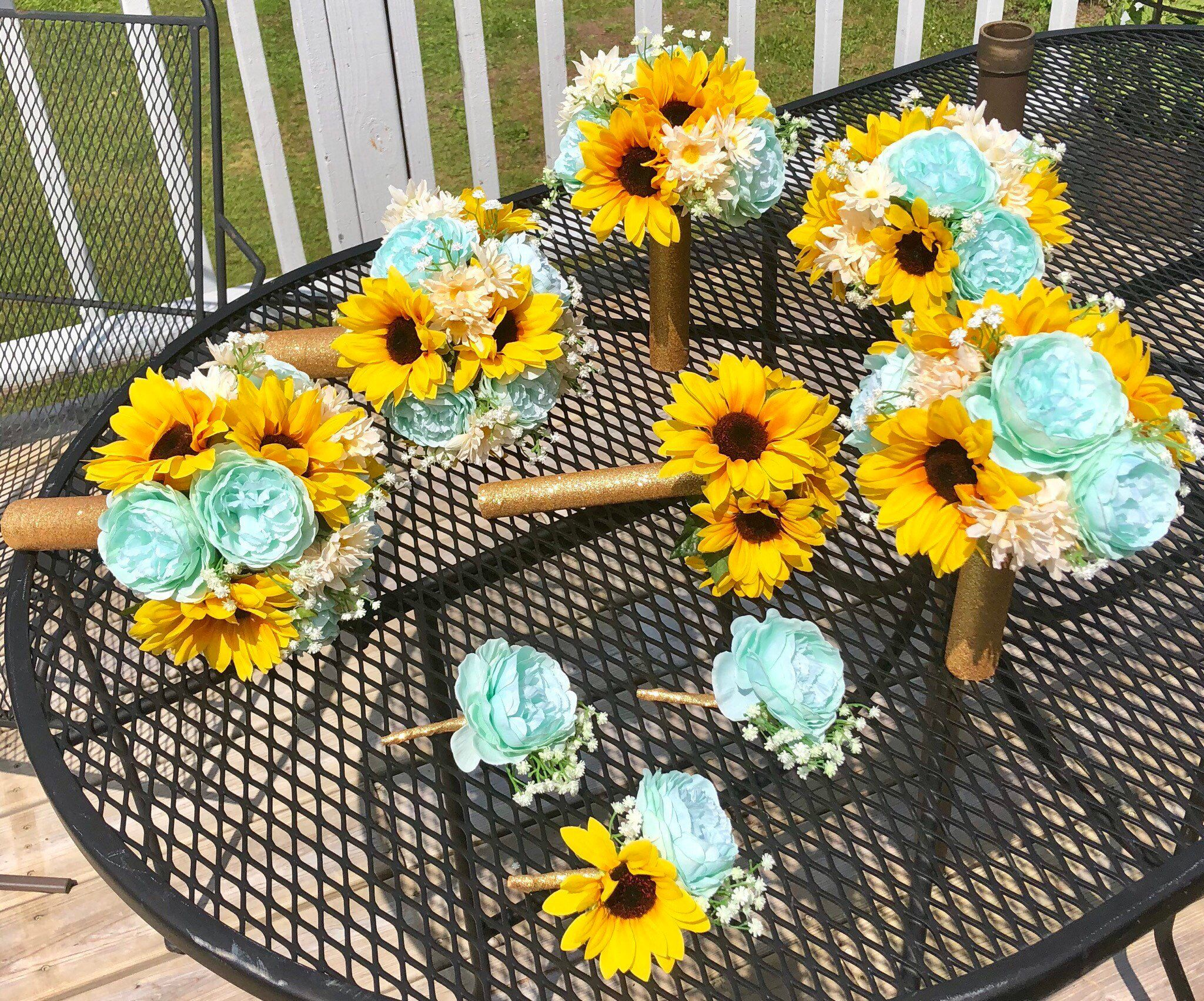 Customize your package sunflower bouquet groom
