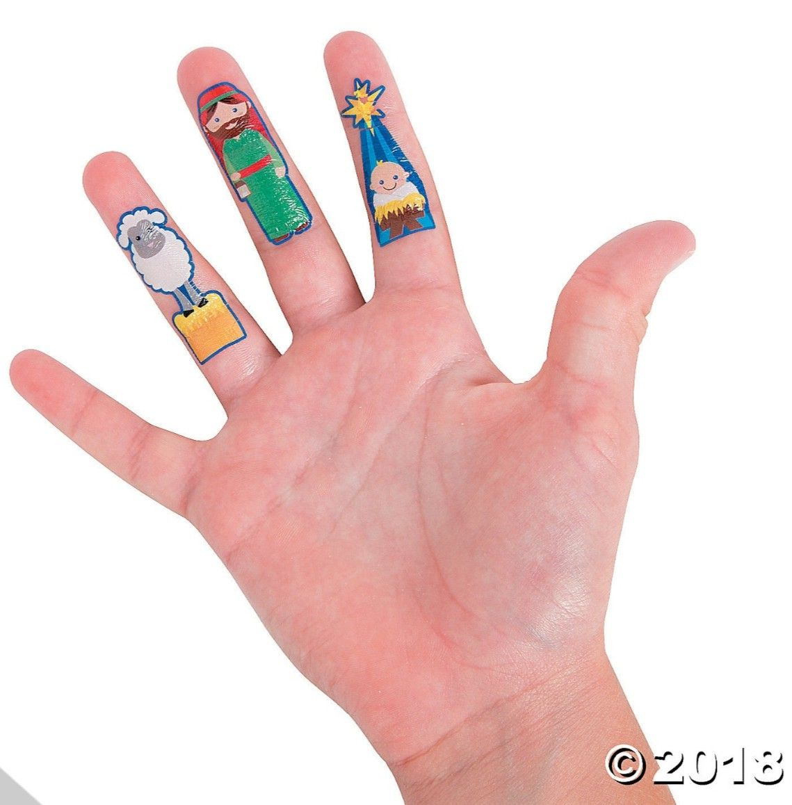 Fun Nativity Removable Finger Tattos