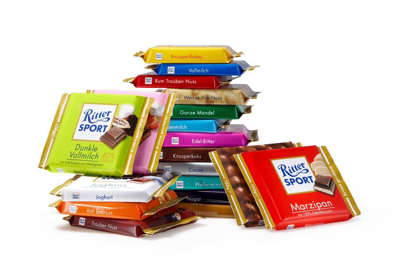 Ritter Sport'un birbirinden lezzetli çikolatalı
