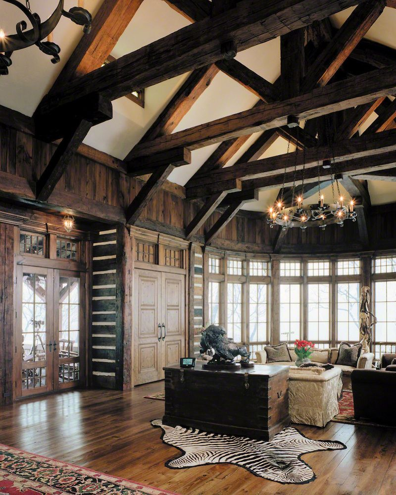 Pleasing Glamorous High Ceiling Great Room With Custom Lutron Lighting Largest Home Design Picture Inspirations Pitcheantrous