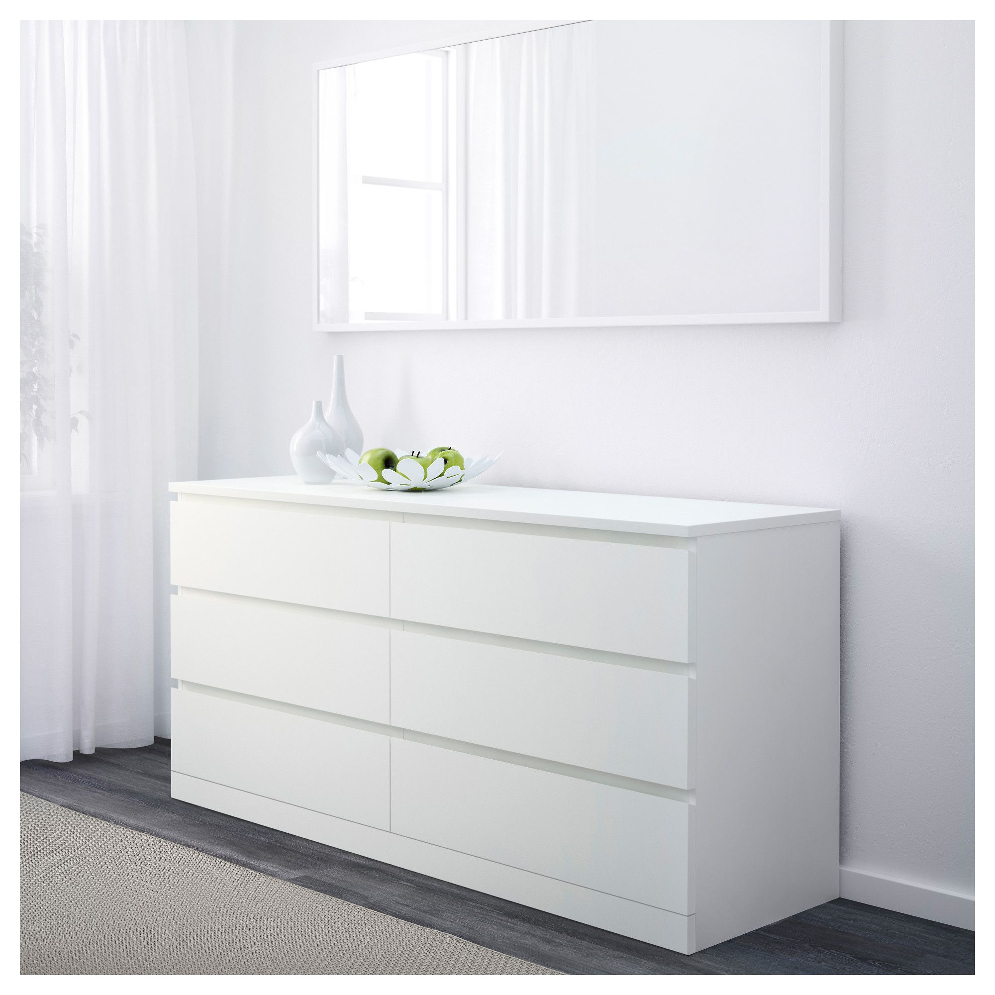 Malm 6 Drawer Dresser White 63x30 3 4 Ikea Ikea Malm Dresser Bedroom Chest Of Drawers White Bedroom Furniture