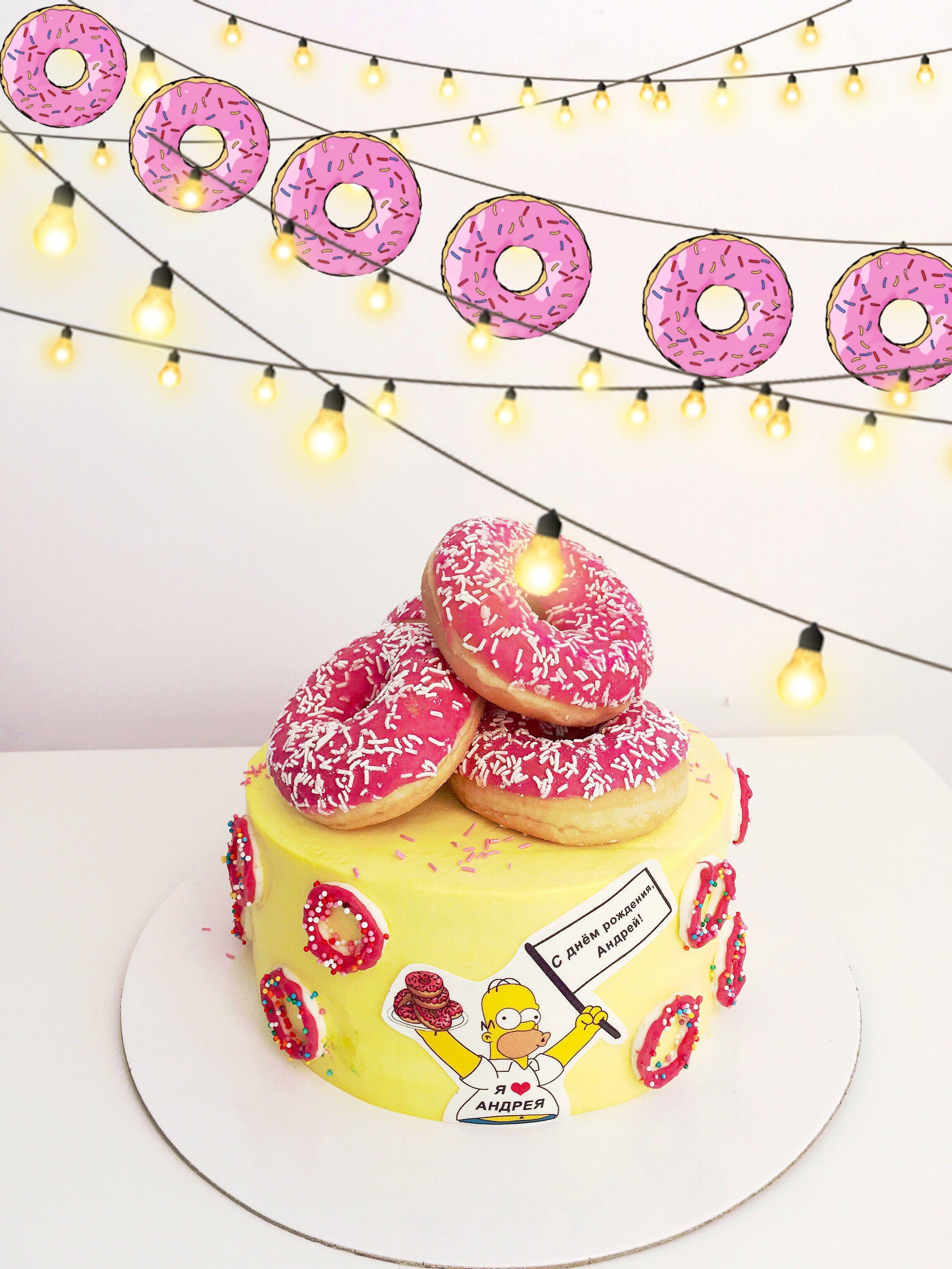 удивительная картинки пончиков и тортиков фотографии