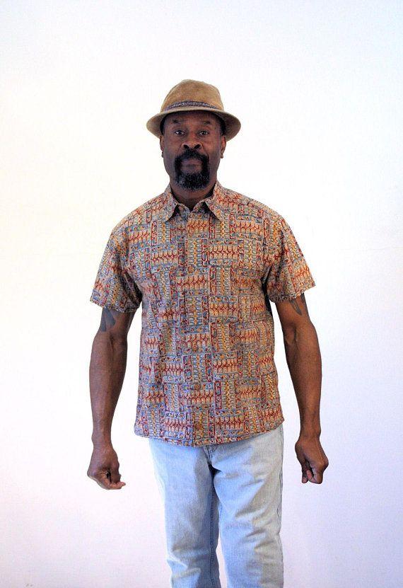 57da9d0c8e1d 90s Orvis Batik Shirt S