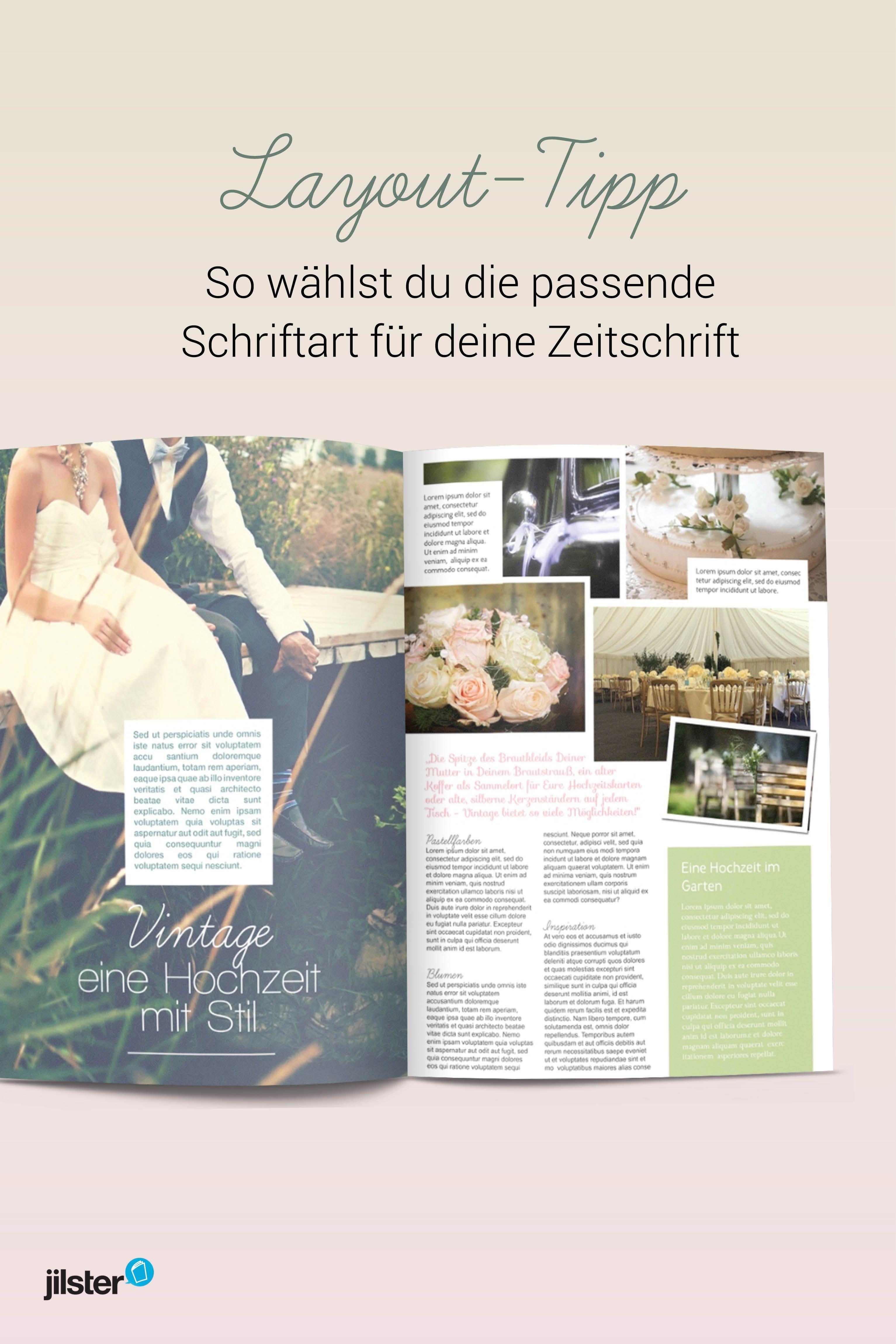Layout Tipp Schriftarten In Deiner Eigenen Zeitschrift Zeitschriften Zeitschriften Layouts Layout