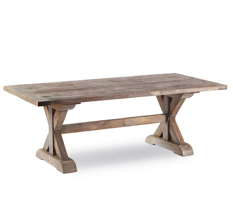 Outdoor wood dining table - Vintage Fir Cross Beam Dining Table