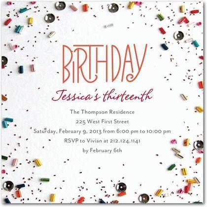 Confetti Fun - Birthday Party Invitations in Blaze | Petite Alma