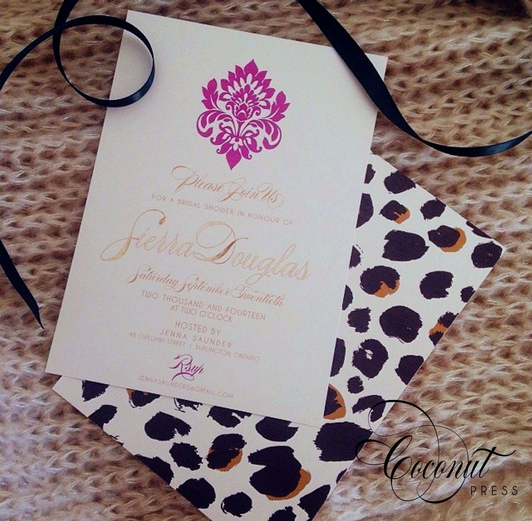 Leopard Print Invitations // Fashion inspired bridal shower ...