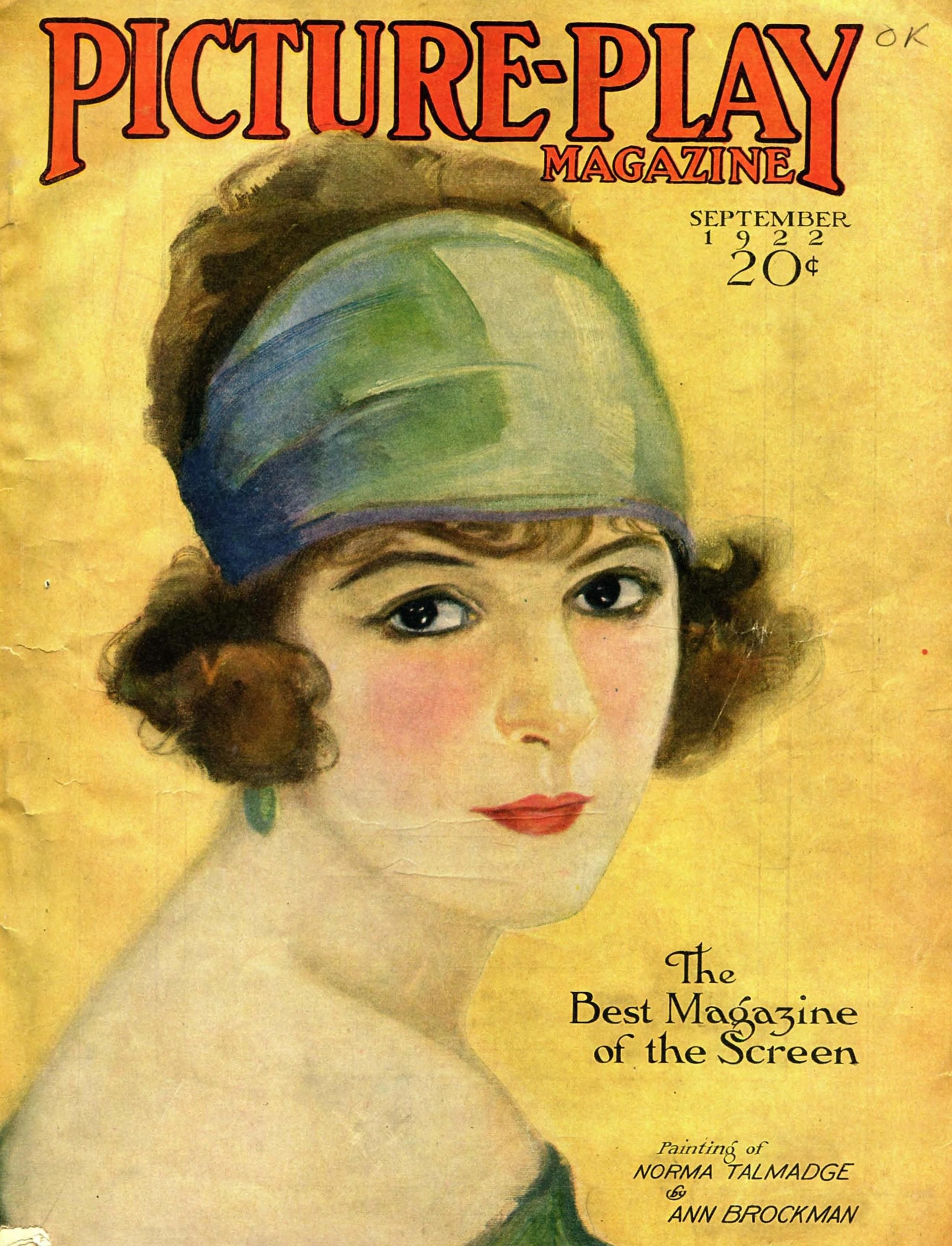 Picture-Play Magazine - 1922 - Portada de Ann Brockman