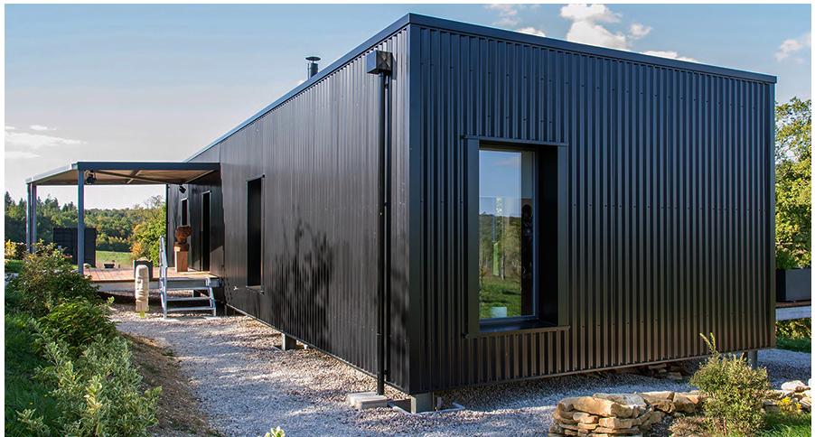 Atl ntico es una casa contendor prefabricada de 36 metros for Casa minimalista uy