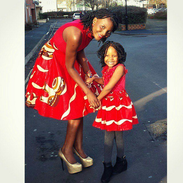 Who says your little ones can't be as stylish as you. see how mothers style up their cuties using the Ankara fabric.