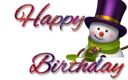 Winter Birthdays Scarf Snowman Birthday Mittens Hat Winter