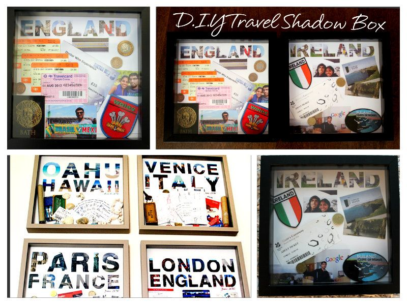 D I Y Travel Shadow Box Milk Cardamom Travel Shadow Boxes Shadow Box Travel Crafts