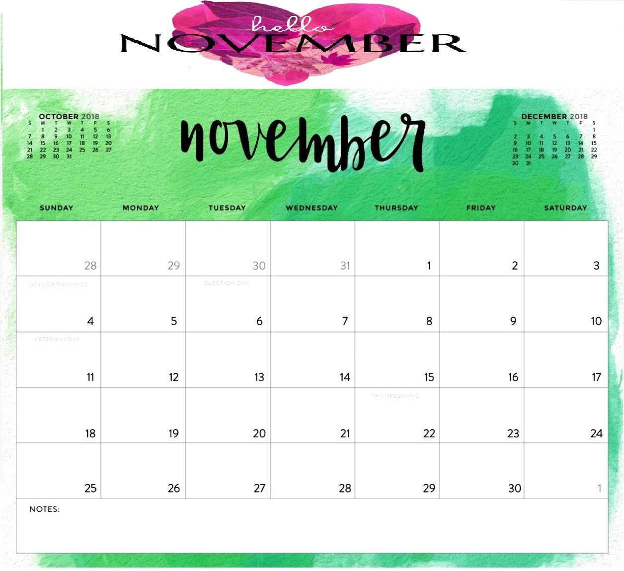 Hello November 2018 Calendar #hellonovember #november2018 #novembercalendar #hellonovembermonth Hello November 2018 Calendar #hellonovember #november2018 #novembercalendar #hellonovembermonth