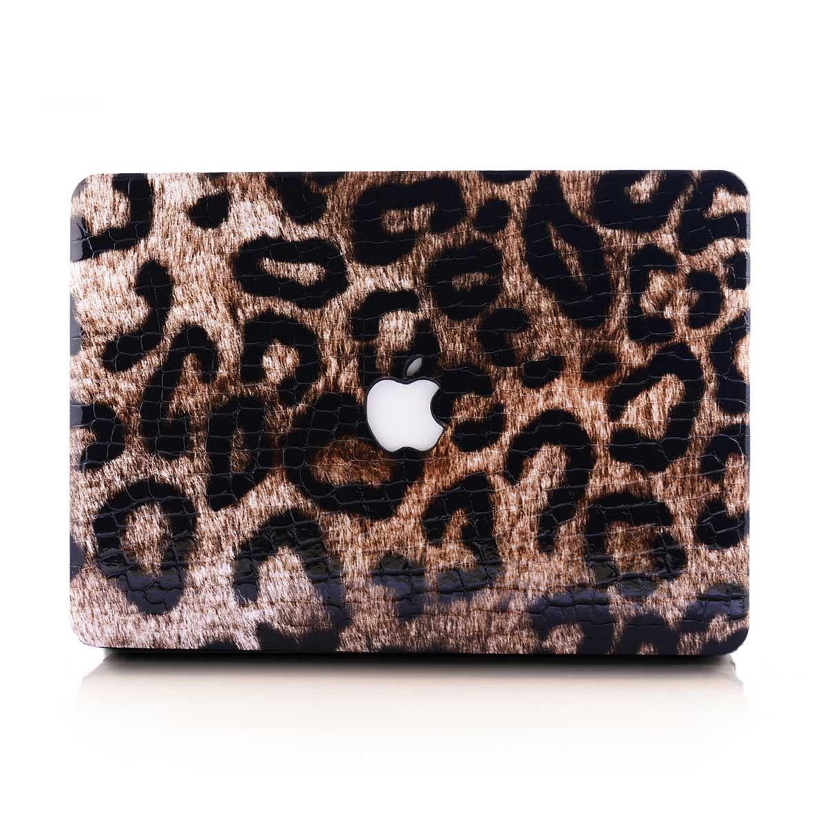 Leopard Print Leather MacBook Case