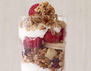 flat belly granola.   Just made the granola last night. Had this for breakfast . And no, it looked nothing like the picture. But it was oh so good.