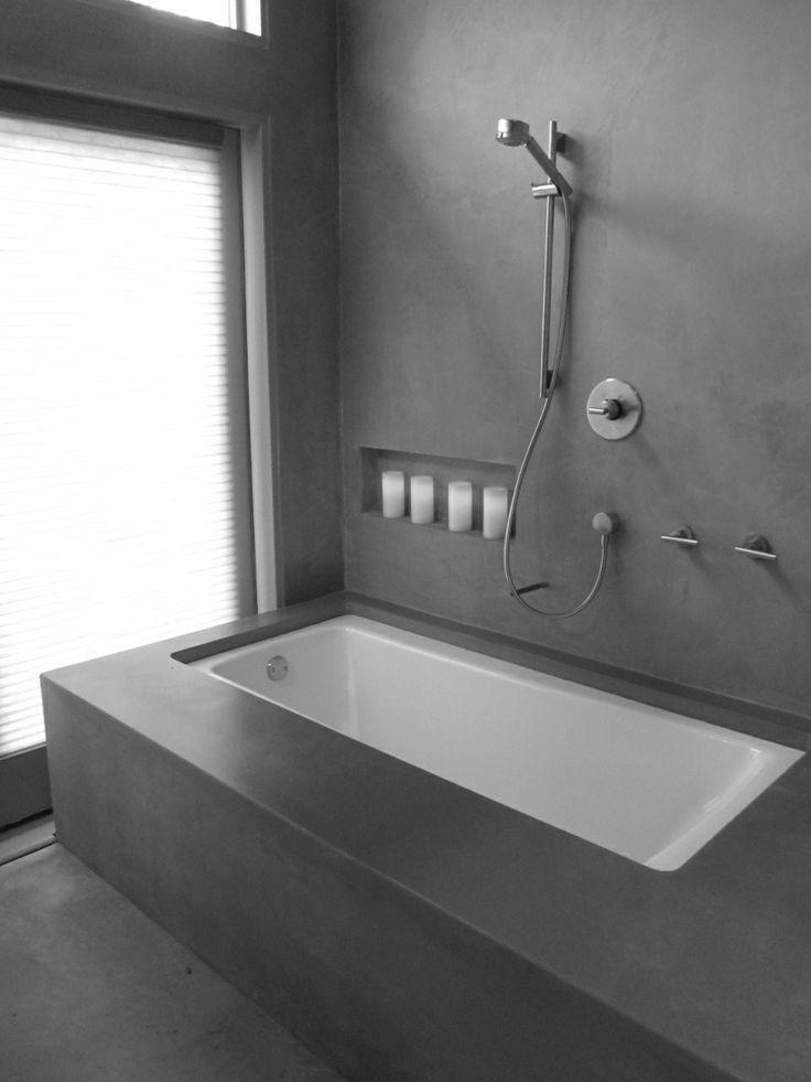concrete   interior.   Pinterest   Concrete, Bath room and ...