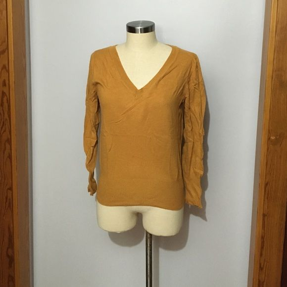 Mustard v neck sweater V Neck sweater, perfect alone or over a button down Mossimo Supply Co Sweaters V-Necks