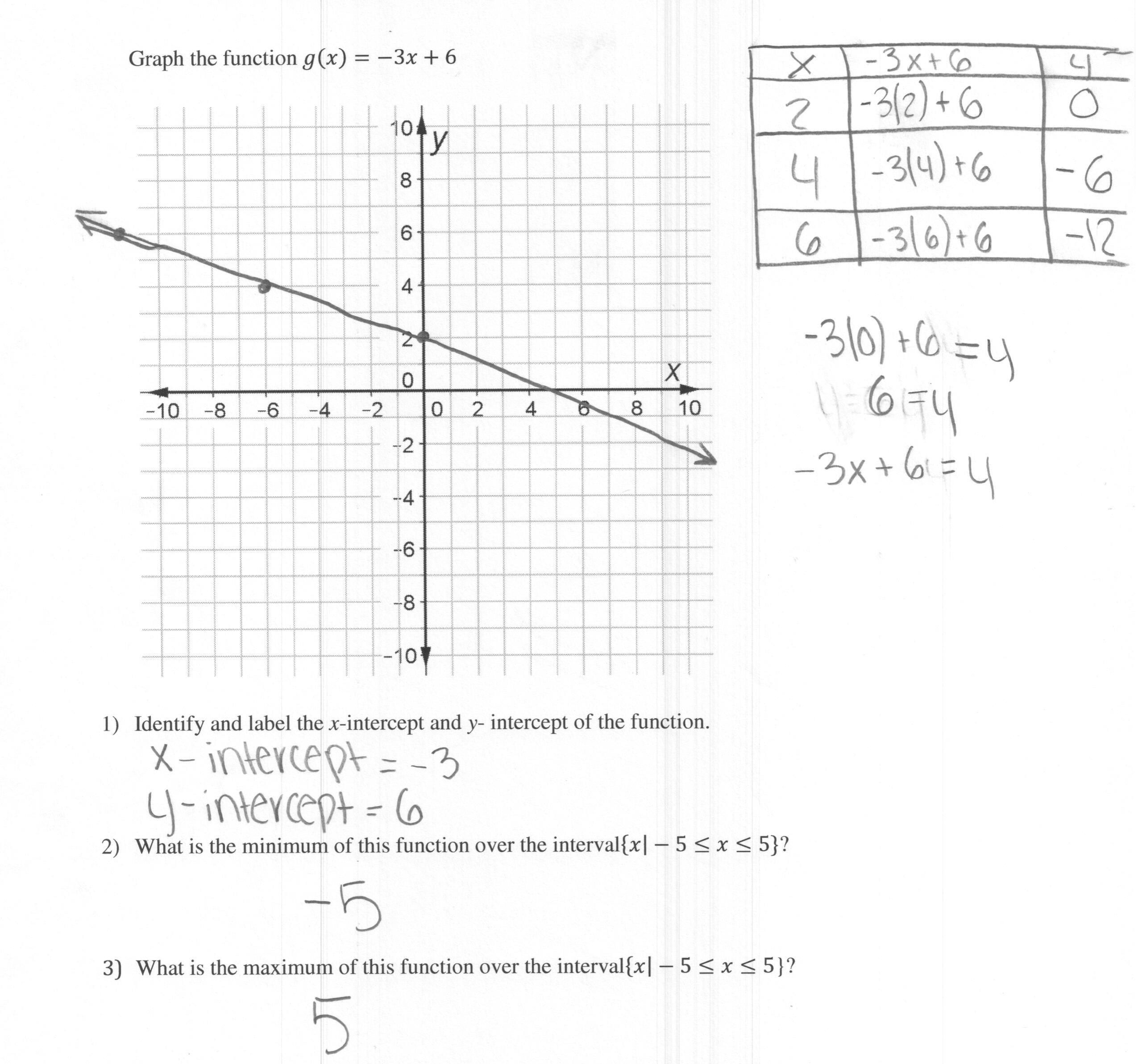 Graphing Y Mx B Worksheet