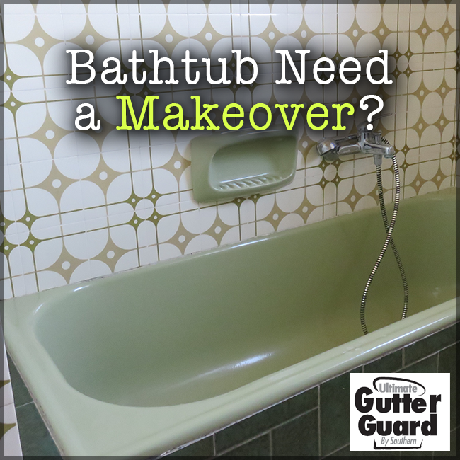 If You Have Wanted To Transform The Look Of Your Bathroom But Didn T Want To Have To Spend Thousands And Thousa Bathtub Makeover Bathroom Makeover Gutter Guard