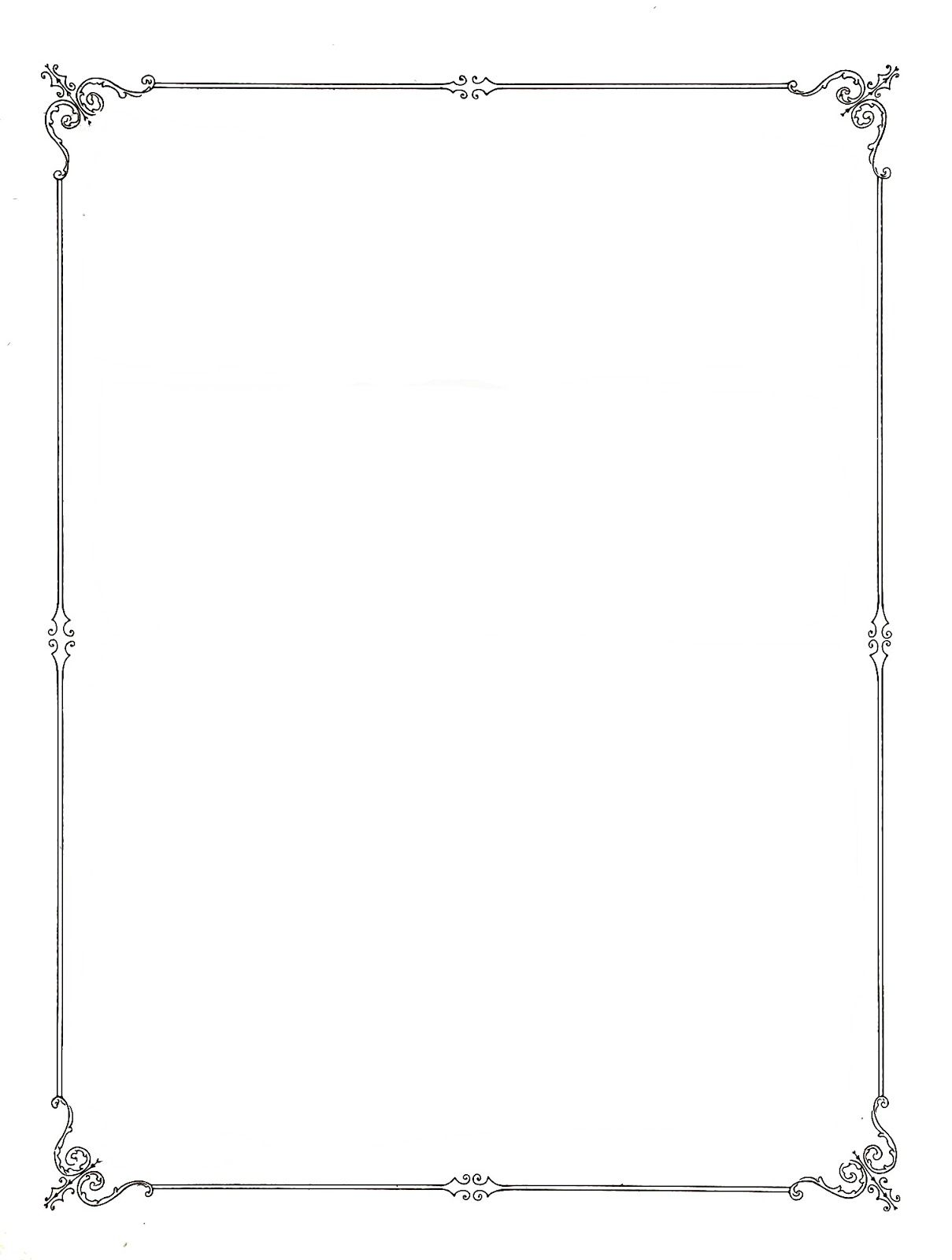 Simple Elegant Line Art : Simple elegant page borders bricolaj și artizanat