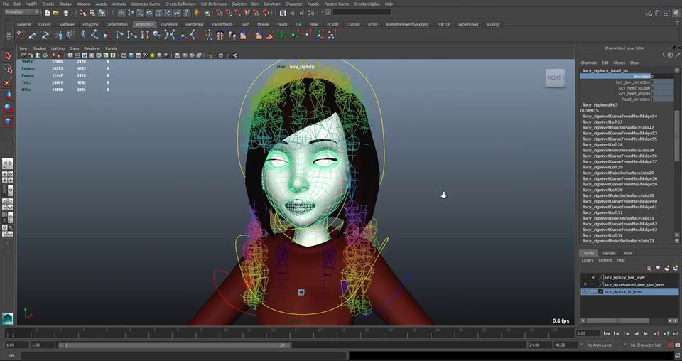 Modify a Maya Rig to add Extra DeformationComputer Graphics & Digital Art Community for Artist: Job, Tutorial, Art, Concept Art, Portfolio