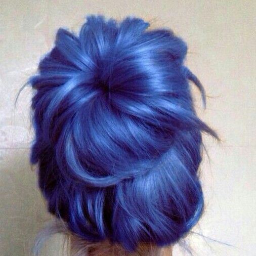 Blue Bun Hair Color Crazy Indigo Hair Dyed Hair