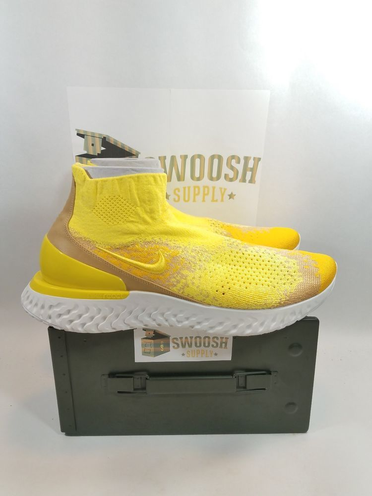 Nike Rise React Flyknit Size 15 Sonic Yellow BQ6176-707  LIMITED EDITION    Nike  RunningShoes b9932155c