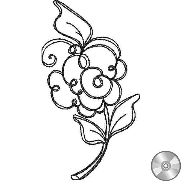 Rosette A Embroidery Design | Compact Disc