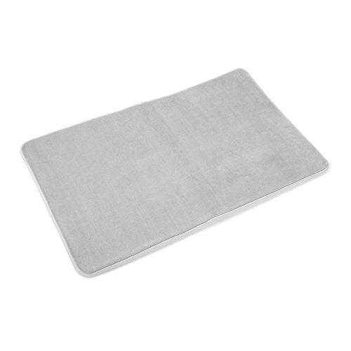 Memory Foam Bathrug Light Gray Bath Mat And Shower Rug Large 20 X